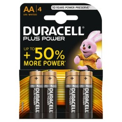 Conf. 4 batterie duracell MN1500 stilo AA