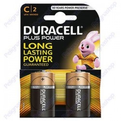 Conf. 2 batterie duracell MN1400 1/2 torcia C