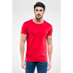 T-Shirt girocollo sottile CLOUD 100% cotone semi pettinato