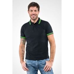 Polo M.M SMITH Black line 100% cotone piquet