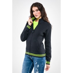 Felpa donna full zip BUTTERFLY BLACK LINE