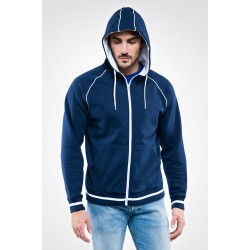 Felpa full zip con cappuccio ENJOY