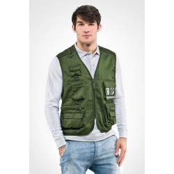 Gilet multitasche con portabadge POWER