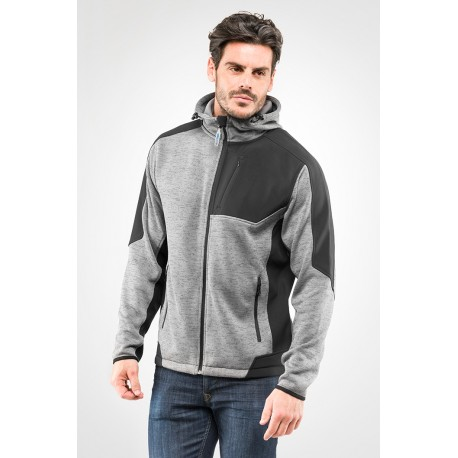 Felpa knitted con cappuccio Full zip DAKOTA
